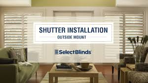 How To Install Interior Window Shutters How To Install Shutters Installing Outside Mount Shutters Youtube