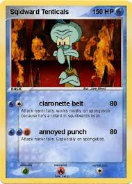 Meme Trading Cards - squidward pokemon trading card by americaa on deviantart