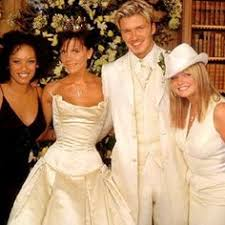 beckham wedding dress david and beckham in a strapless vera wang wedding dress
