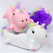 grown up light up shoes unicorn led cute plush white slippers grown up women ladies