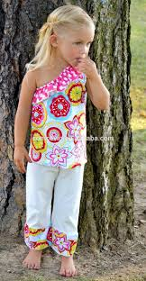 Little Girls Clothing Stores Girls Boutique Clothing Sets Flower Drss With Strip Briefs Little
