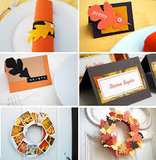 felt leaf napkin rings and placecards for thanksgiving merriment