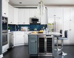 Blue Kitchen Island Peacock Blue Kitchen Island With Gray Leather Tufted Stools