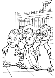 pictures of chipmunks coloring sheet