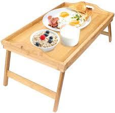 bed tray table walmart breakfast trays bamboo table laptop desk bed bamboo breakfast table