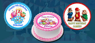alvin and the chipmunks cake toppers personalized cake and cupcake toppers strips edible cake image