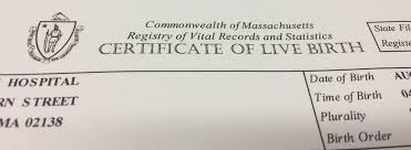 order a certified copy of a birth certificate city of cambridge ma