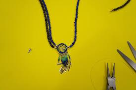 diy pendant choker necklace images Coachella diy dreamcatcher choker necklace benita the diva +Cute