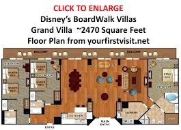 disney bay lake tower floor plan 3 bedroom villa disney world boardwalk villas floor plan