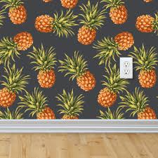 pineapple wallpaper removable wallpaper self adhesive