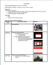 training lesson plan templates design vs delivery train like a