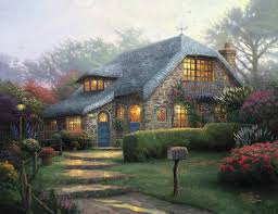 lilac cottage limited edition the kinkade company