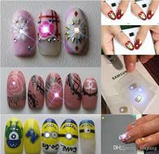 mobile sensors nfc nail stickers blinking nail art stickers with