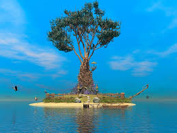 tranquility tranquility island by beelzebulb bryce surrealism