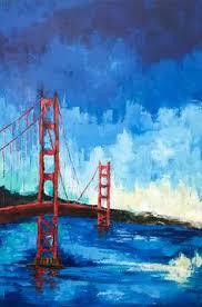 golden gate bridge 4 watercolor painting by carlin blahnik once