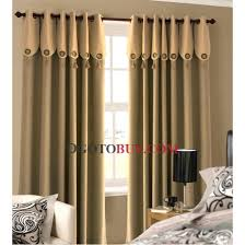 Brown Linen Curtains Casual Ivory Faux Linen Blackout Energy Saving Curtains Buy