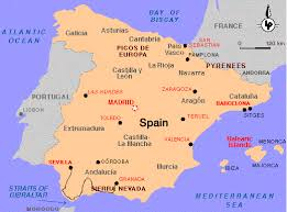 maps of spain spain maps geographical political road railway