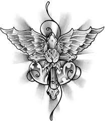 cross tatoo images winged cross tattoo design by thirteen7s on deviantart