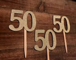 Centerpieces 50th Birthday Party by 50th Birthday Party Etsy