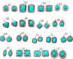 earrings styles different styles of tibetan silver tone turquoise drop earrings