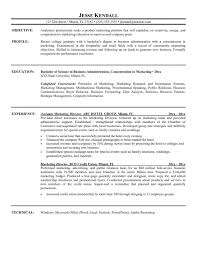 resume samples for marketing get specific marketing chronological