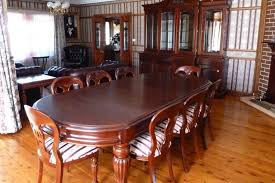 victorian style solid mahogany dining table custom size