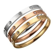 titanium steel love bracelet images Titanium steel love bracelet with swarovski crystals 30g jpg