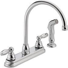 peerless kitchen faucets peerless two handle kitchen faucet with side sprayer chrome