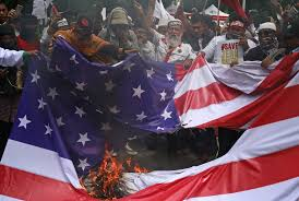 Illegal To Burn American Flag Indonesians Burn Israeli Us Flags In 4th Day Of Jerusalem
