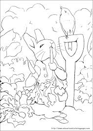 Rabbit Color Pages Peter Rabbit Coloring Pages Educational Fun Rabbit Colouring Page