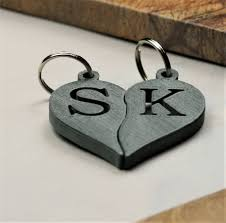 rings with initials personalised s initials heart key rings by mixpixie