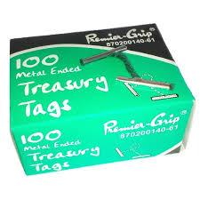 treasury tags premier grip metal ended treasury tags 102mm