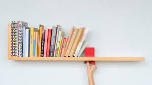 a bookshelf that holds your books upright
