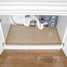 xtreme mats under sink xtreme mats under sink bathroom cabinet mat 27 3 8 x 18 1 2 beige ebay