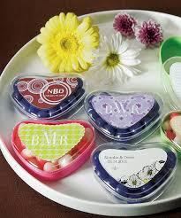 candy containers for favors heart shaped candy containers wedding favors heart