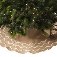 burlap christmas tree skirt christmas tree skirts you ll wayfair