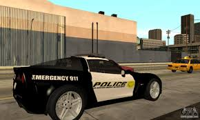 police corvette chevrolet corvette z06 los santos sheriff dept for gta san andreas