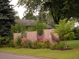Landscaping Ideas For Backyard Privacy by Sh Front Yard Landscaping Along Privacy Fence H Amys Office