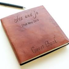 Leather Guest Book Wedding Personalized Leather Guest Book Wedding Flowers Decorations