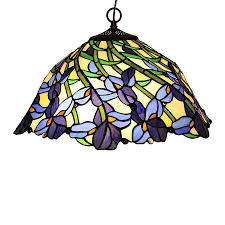 Stained Glass Light Fixtures Shop Chloe Lighting Iris 19 In Bronze Tiffany Style Single Stained