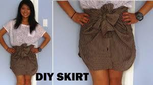 diy long sleeve shirts into skirts no sewing youtube