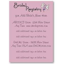bridal registry bridal registry in wedding invitation the wedding specialiststhe