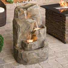 outdoor lowes fountains for create a welcoming atmosphere in