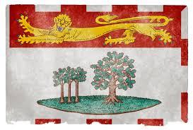 Canadian Provincial Flags Prince Edward Island Grunge Flag