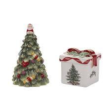 amazon com spode christmas tree tree salt and pepper gift box