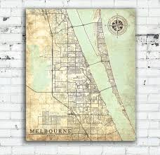 melbourne fl map melbourne canvas print florida fl vintage map melbourne city map
