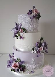 wedding cake lavender lavender lace and flowers wedding cake wedding cakes by the pink