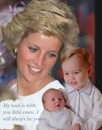 lady charlotte diana spencer princess diana looking down from heaven at her two beautiful