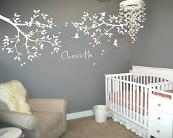 personalized name large tree branches wall stickers flying birds personalized name large tree branches wall stickers flying birds white tree wall decal baby nursery wall tattoo mural jw211a in wall stickers from home