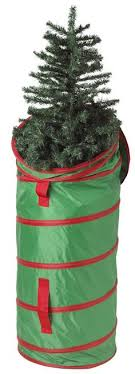 tree storage use a large new garbage can with a lid and